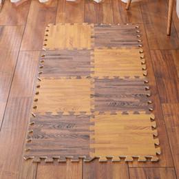 Wholesale Wood Baby Mobile - 30*30*1.0 cm 2017 Wood grain EVA mat baby floor mat environmental baby playmats EVA Foam Interlocking Exercise Gym Floor Play Mats