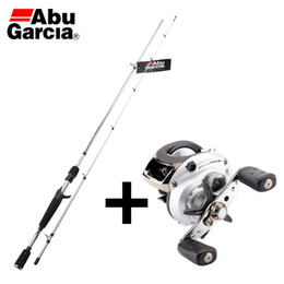 Wholesale Abu Garcia Fishing Rods - Wholesale- 2016 Original ABU GARCIA VENGEANCE II 1.98M M ML Baitcasting Fishing Rod + SMAX2 6.4:1 Left Hand BaitCasting Fishing Reel Set