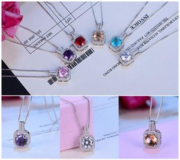 Wholesale Wholesale Contract - 925 sterling silver zircon diamond pendant Contracted costly clavicle necklace jewelry accessories
