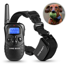Wholesale Electronic Remote Dog Training Collar - Anti-barking Dog Training Collar Rechargeable and Rainproof 330yd Remote Dog Shock Collar with Beep, Vibration and Shock Electronic Collar