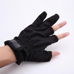 1 Par Antideslizante 3 dedos de corte bajo Guantes de Pesca Tackle Protector de dedos Guantes antideslizantes para Aparejos de pesca Caja de guantes al aire libre desde fabricantes