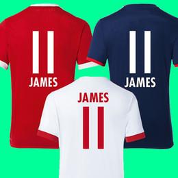 Wholesale Jersey Shirt Quality Thailand - Thailand AAA quality JAMES RODRIGUEZ Soccer jerseys 2017 2018 LEWANDOWSKI MULLER ROBBEN jersey 17 18 Trikot Football shirts maillot TOLISSO