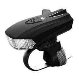 Wholesale Front Bike Shocks - Cycling Light Bike Bicycle Smart Sensor Warning Light Shock Sensor LED Front Lamp USB Charging Night Riding free shipping