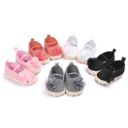 Wholesale newborn crochet shoes - 2017 New Arrive Spring Summer Baby Moccasin flower Fashion Soft Bottom Newborn Babies Shoes Baby First Walker Princess Lace Shoes