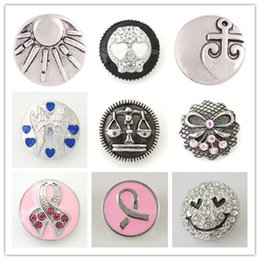 Wholesale Trend Accessories Wholesale - Partnerbeads Noosa Interchangeable Trend Metal 20MM Snap Button Snap Jewelry Accessory DIY Snap Charms KC5004