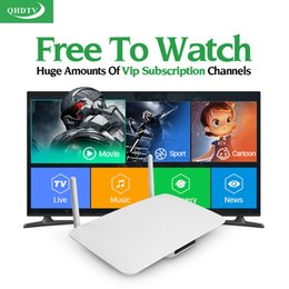 Wholesale Core Accounts - Android Smart Tv Set Top Box RK3128 Android IPTV Box With QHDTV Arabic IPTV Account Full Europe Arabic French 1100 Channels