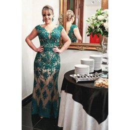 Wholesale Teal Mother Bride - Teal Lace Mother Of The Bride Dresses 2017 Cap Sleeve Sheath Floor Length Quality Custom Luxury Evening Party Gowns For Women
