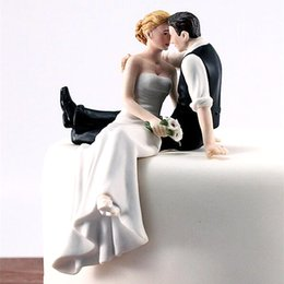 Wholesale Couples Figurines - Wholesale-2016 Fashion Wedding Bride and Groom toppers Couple Figurine Wedding Cake Topper For Marry cake Decoration supplies cakes stand