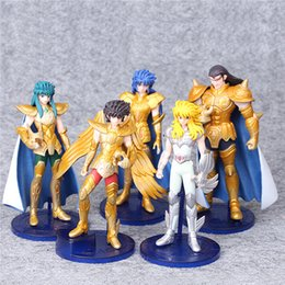 Wholesale Knight Toy - Anime Saint Seiya Myth Cloth Knights of the Zodiac Pegasus 5 PCS   Set 13 cm PVC Figures Dolls Toys