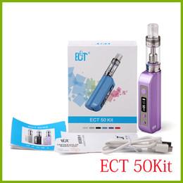 Wholesale Resistance Glass - 100% original ECT e cigarette 50W ECT50 box mod 2200mah starter kit 2.5ml kenjoy vot mini vaporizer 18650 et50 battery low resistance