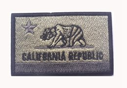 Wholesale Fabric Armbands - Embroidered CALIFORNIA REPUBLIC State Patches United States State Flag Patch Tactical 3D Badge Fabric Flag Armband Cloth Badges free ship
