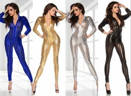 Wholesale Purple Dancers - Bar nightclub ds lead dancer clothing costumes sexy piece pants European jazz singer golden costumes