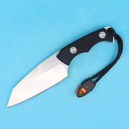 Wholesale Self Defense Whistle - Drop Shipping Survival Straight Knife D2 Steel Satin Blade Black G10 Handle Outdoor Camping Tactical Gear With Survival whistle