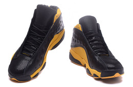 Wholesale Cool Shoes For Boys - cool retro 13 13s Croco black yellow online mens basketball shoes trainers for boy size13US frees shipping quality top