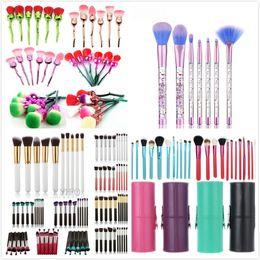 Wholesale Makeup Kit 32pcs - Hot Beauty Tools 6pcs 12Pcs 32Pcs New Shedding Powder Makeup Blush Brushes Set Fish Makeup Brush Brushes High Quality Customizable LOGO