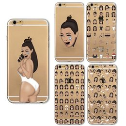 Handel iphone online-2017 mode kimoji außenhandel explosion stil abdeckung case für apple iphone 6 6 s 7 plus silikon weiche tpu hülse shell
