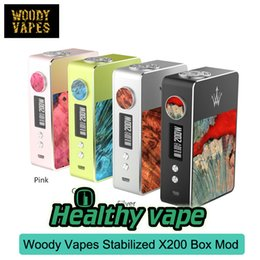 Wholesale Wooden Cigarette Box - Original Woody X200 e cigarette TC BOX MOD Electronic Cigarettes Kit Wooden e-cigarettes with OLED Display Vape