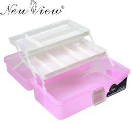 Wholesale Manicure Storage Box - Wholesale- Nail Art Box 3 Layer Multi Utility Storage Case Professional Manicure kit Nail Tool Makeup Box Large Size