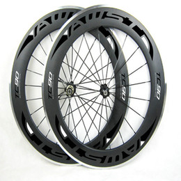 Wholesale 88mm Carbon Rims - AWST Carbon Wheels 88mm 700C Clincher Carbon Road Wheels Rim Alloy Brake Surface more durable Aluminum Braking Surface wheels made in china