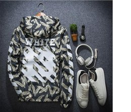 Wholesale Sequin Jackets - 2017 off white Number one jacket Fingercroxx windproof sequin spliced Quick-drying sun protection Camo yeezus Jacket Nylon oxford Clothing