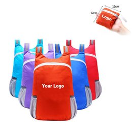 Wholesale Uk Nylon - Print Your Logo A Grade Portable Folding Mountaineering Backpack Sports Bag Free Shippin to USA UK