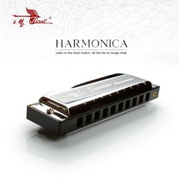 harmonica diatonique c cygne Promotion Vente en gros - 10 trous C Key Swan Diatonic Blues Harmonica Mouthorgan Harp Mouth Organ