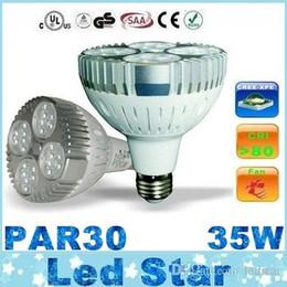 Wholesale E27 Led Corn Globe - CE UL Led par30 Lights CREE E27 35W Led Bulbs Light 24LEDs 3600 Lumens CRI>85 With Cooling Fan AC 110-240V