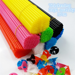 Wholesale Best Balloon Decorations - Best Seller 100pcs 27cm Balloon Accessories Balloon Holder Sticks with cups Thickening high quality Party Supplies Decoration