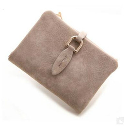 Wholesale Coin Snap Wallet Women - Prettyzys Lady Snap Fastener Short Clutch Wallet Vintage Matte Women Wallet Fashion Small Female Purse short Coin Card Holder