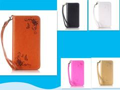 Wholesale Mobile Phone Cover Flower Galaxy - luxury pu leather flower pattern mobile phone suit for samsung galaxy s5 wallet flip phone cover