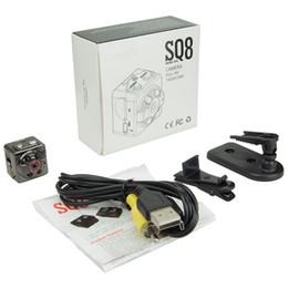 Wholesale Used Night Vision - Super Mini Spy Camera SQ8 Portable Hidden DV Sports Camera 1080P 720P HD Car Night Vision DVR Motion Detection Camera With Retail Box