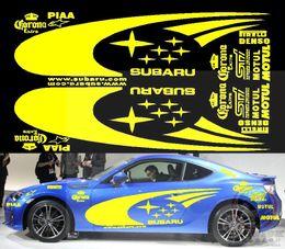 Wholesale Subaru Xv - Wholt set Subaru Car PVC Yellow Sticker For Subaru BRZ Foreter Impreza Legacy Outback XV good quality