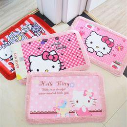 Wholesale Hello Bathroom - Wholesale- 5 Style Hello Kitty Cartoon Child Crawling Mat Bath Mat Anti-slip Mat for Kitchen Bathroom Living Room Carpet 58x38cm C1