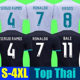 Wholesale Short Soccer Real Madrid - Cheap Thailand Real madrid soccer Jersey 17 18 RONALDO BALE SERGIO RAMOS ISCO MODRIC madrid jersey 2018 football shirt CEBALLOS camisetas