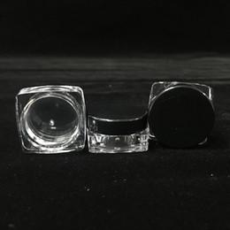 2019 recipientes de cera de plástico 2019 Barato 5 ml / g Recipientes De Plástico De Base Quadrada Preto Tampas De Fumo Frascos De Fumo Atacado Recipientes De Cera De Plástico Em SaleTo Em Todo O Mundo recipientes de cera de plástico barato
