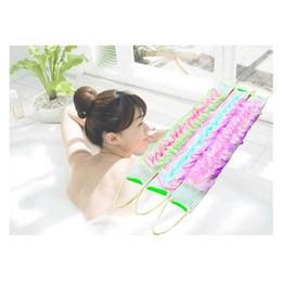 Wholesale Wholesale Bathing Soap - Wholesale-1Pcs Soap Shower Gel Foams Long Nylon Towel Washing Back Soft Bath Washcloths Bath Sponge Exfoliating Mesh Bathing Flower Shower