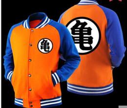 Wholesale Varsity Jackets Hoodie - High quality Japanese Anime Dragon Ball Z Son Goku Saiyan Varsity Jacket Sweatshirt Hoodie Coat Jacket Brand Baseball Jacket hoodies 3XL