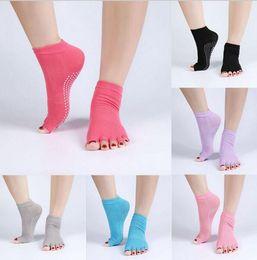 Wholesale Yoga Slip - Yoga Socks Cotton Sports Pilates Socks Anti Slip Women Gym Socks Gym Exercise Non Slip stockings D837