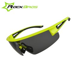 Wholesale Rockbros Polarized Sunglasses - Wholesale- 2016 ROCKBROS Cycling Sun Glasses PC Windproof UV400 Polarized Sports MTB Bicycle Bike Sunglasses Glasses Eyewear Gafas Ciclismo