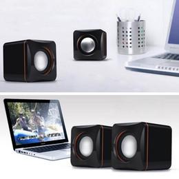Vente en gros mini portable en plastique filaire USB audio carré lecteur de musique haut-parleur pour iPhone pour iPad MP3 MP4 ordinateur portable PC livraison gratuite ? partir de fabricateur