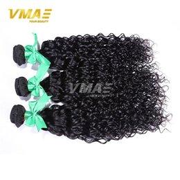 Wholesale Same Length Brazilian Hair - VMAE 100% Unprocessed Virgin Remy Human Hair Weave Virgin Peruvian Brazilian Curl Water Wave Same Length 3 Pcs Lot Hair Extensions