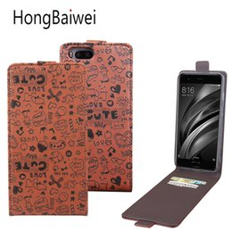 Wholesale Cartoon Phone Skin Protector - HongBaiwei High quality and lovely cartoon phone skin cover, suitable For Xiaomi Mi6 cell phone, wallet type cell phone protector