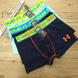 Wholesale Wholesaler Mens Cotton Pant - Fashion Boys Men Underwear Underpants UA Sports Cotton Mens Boxers Casual Short Pants Solid Color Breathable Comfortable Underwears 939