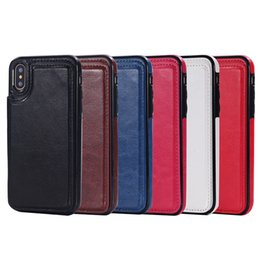Кожаный чехол i6 онлайн-Для iphone X 8 7 бумажник кожаный чехол Карты деньги слоты тонкий многофункциональный Фолио ID окна противоударный ТПУ чехол для i6 6S плюс SCA285