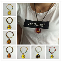 Wholesale Amber Insect Necklace - New Arrival Baby Safe Necklaces of Silicone amber insects Teething Jewels Necklaces with Waterdrop Pendant educational toy CB130