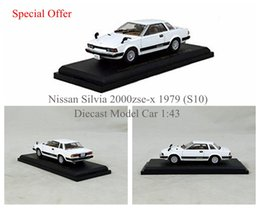 Wholesale Classic Car Models For Gifts - Special Offer Nissan Silvia 2000zse-x 1979 (S10) Die-cast Car Model Classic Vehicle Gifts for Collection White 1:43 Wholesale
