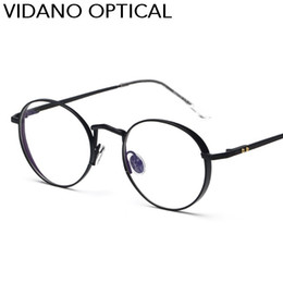 Wholesale Metal Optical Spectacles - Vidano Optical Vintage Classic Round Metal Spectacles Men Women Unisex Old School Fashion Glasses UV400 Protection