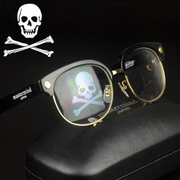 Wholesale Eyeglasses Skulls - New 2017 Mastermind Eyeglass Unique Skull Fashion Luxury Myopia Glasses Frame Men Oversized Half Rim Vintage Eyewear For Women Gafas de sol