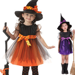 Wholesale Wholesale Special Occasion Dresses - Children Cosplay Clothes Halloween Witch Role Play Dresses Special Occasions Festival Girls' Dress Masquerade Party Stage Costume