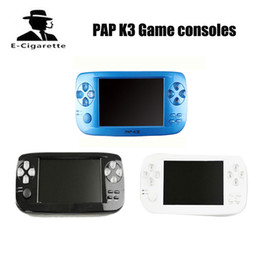 Wholesale Hd Tv Cameras - PAP K3 4.3 Inch HD Game Console 32 Bit Portable Handheld Game Players 500+ Inner game VS 620 Retro Classic handheld Mini TV Handheld